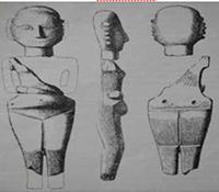 Фиг. 8 – мраморен антропоморфен идол, с. Благоево, Разград