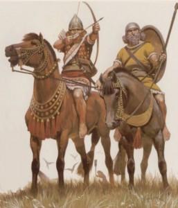 Асирийската кавалерия по времето на Ашшурназирпал II. Съвременна възстановка. Източник: http://thelosttreasurechest.wordpress.com