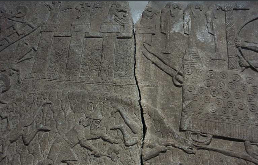 Ужасът на асирийската обсада. Барелеф от двореца на Тиглатпаласар III в Калху. Източник: www.ancientreplicas.com