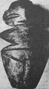 Фиг. 7 – мраморен антропоморфен идол, с. Богданица, Пловдив